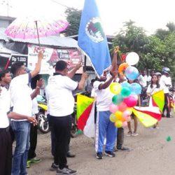 Parade Memeriahkan HUT Ke-30 KSP Kopdit Ankara Lewoleba