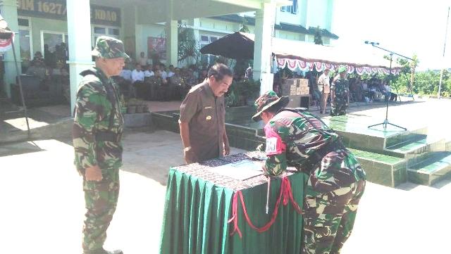 Bupati Rote Ndao, Jadi Komandan Upacara Pelepasan TMMD TNI ke-31