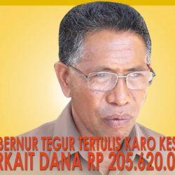 Gubernur tegur tertulis Karo Kesra terkait dana Rp 205.620.000