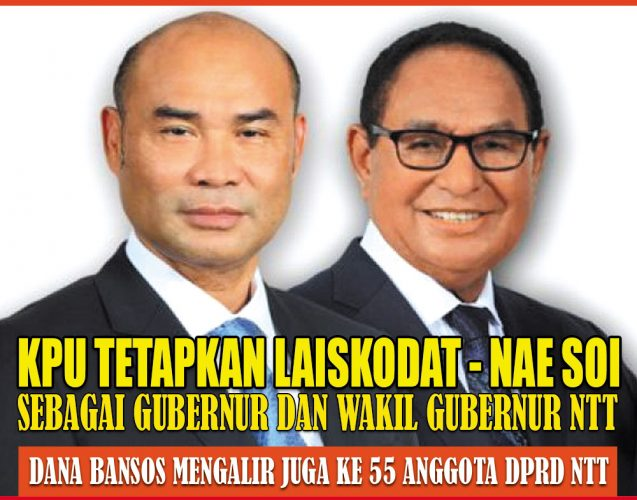 KPU tetapkan Laiskodat - Nae Soi Sebagai Gubernur Dan Wakil Gubernur NTT