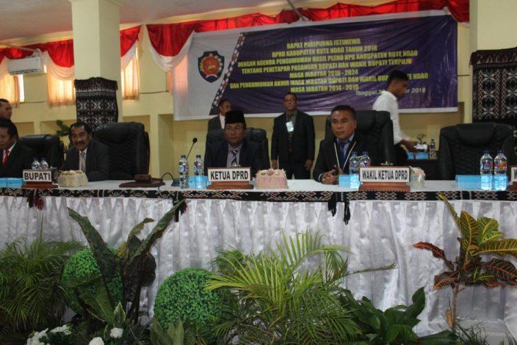 DPRD Rote Ndao Gelar Paripurna Pengumuman Bupati dan Wakil Bupati Terpilih