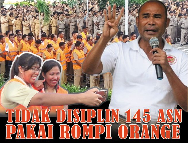 Ratusan ASN Pemprov NTT dihukum dengan Rompi Orange