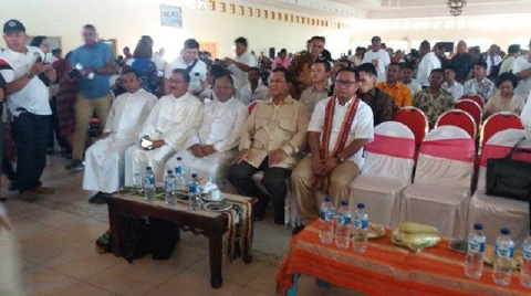Partai Gerindra Rayakan Natal Nasional di Belu NTT