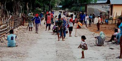 Desa Tesabela Gunakan Dana Desa Rp.386 juta bangun jalan