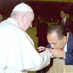 Frans Lebu Raya Bertemu Paus Fransiskus
