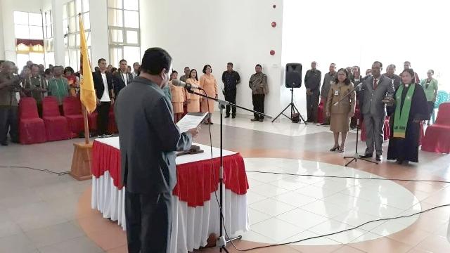 Ir. Obed Laha resmi Jabat Sekretaris Daerah Kabupaten Kupang