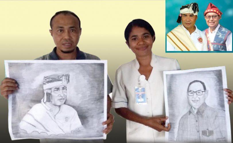 Pasien Gangguan Jiwa di RSJ Naimata Lukis Wajah Gubernur dan Wakil Gubernur NTT