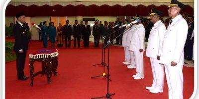 Tiga Kepala Daerah dilantik