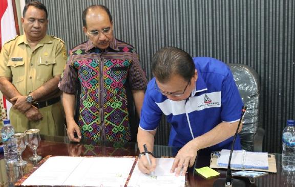 Walikota Kupang MoU dengan Investor Janji 8 Bulan Air Mengalir