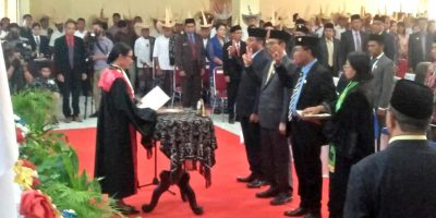 Ketua PN Rote Ndao Lantik Tiga Pimpinan DPRD Rote Ndao