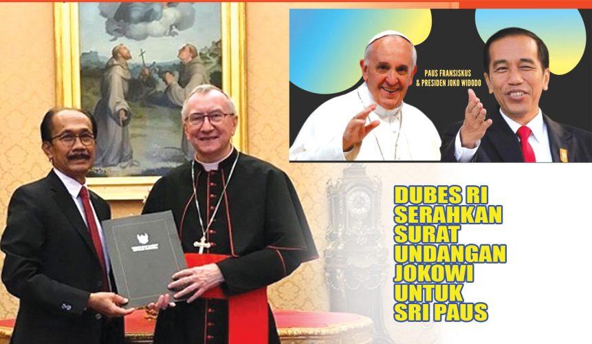 Sah, Dubes RI Serahkan Surat Undangan Jokowi untuk Sri Paus