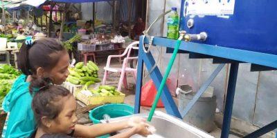 Cegah Virus Corona, Partai Demokrat Kabupaten Kupang Pasang Wastafel Portable