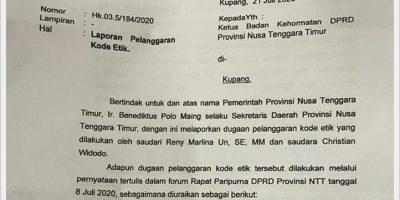 Pengaduan Pemprov ke BK DPRD NTT Dinilai 'Salah Alamat'