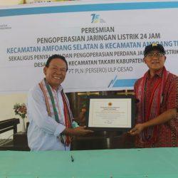 Masyarakat Amfoang Tengah dan Selatan Dilayani Listrik 24 Jam
