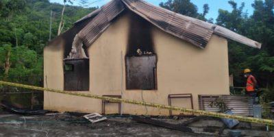 Rumah Biara yang terbakar di Nagekeo
