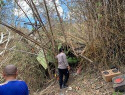 Kecelakaan Tunggal di Kupang, Truk Tronton Masuk Jurang, Kernet Tewas