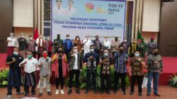 Dilepas Gubenur, Wagub NTT Pimpin Rombongan Atlet PON XX Ke Papua